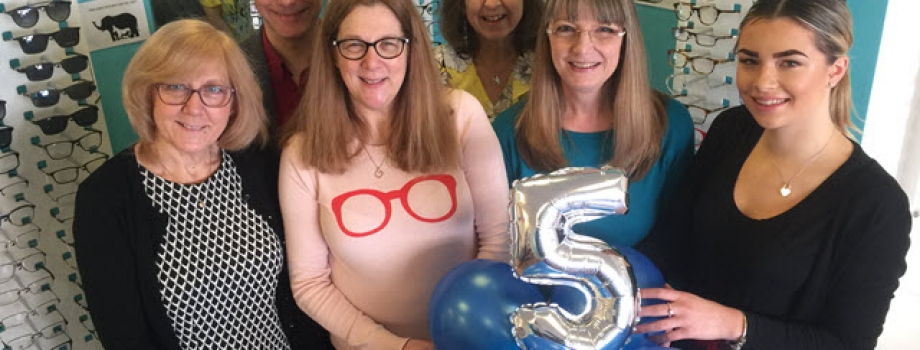 Fifth Birthday Celebrations for Portsmouth Opticians