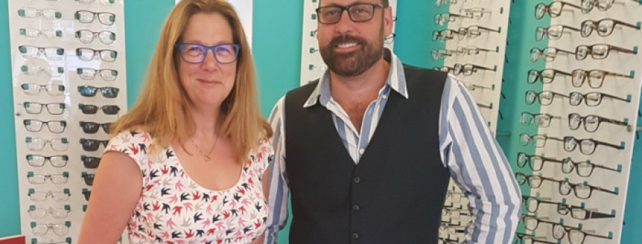 Portsmouth opticians celebrates after welcoming 2,000th customer.